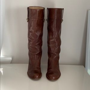 Brown Leather Coach Boots